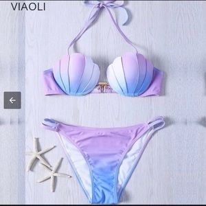 Beautiful Mermaid bikini, shell bikini top&bottom